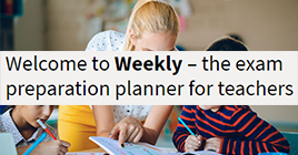 Weekly – the exam preparation planner for teachers
